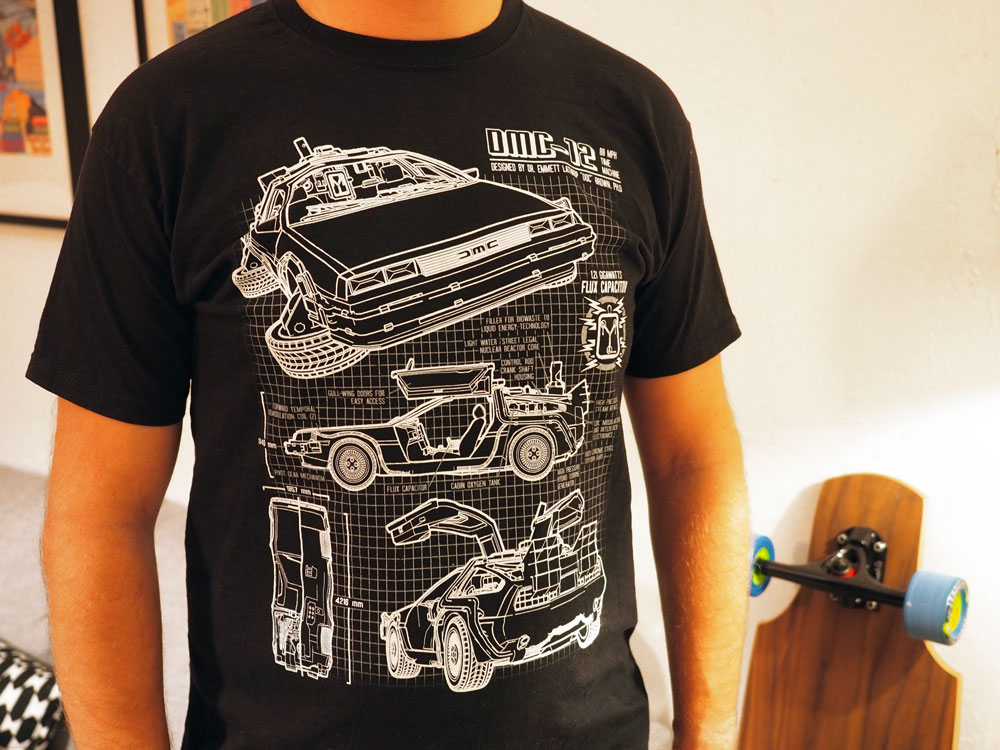 DeLorean Blueprint Shirt