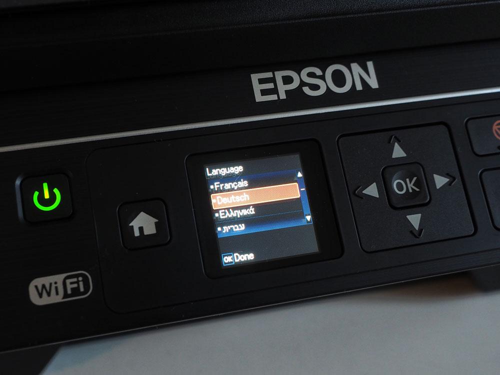Epson EcoTank ET-2550 Display
