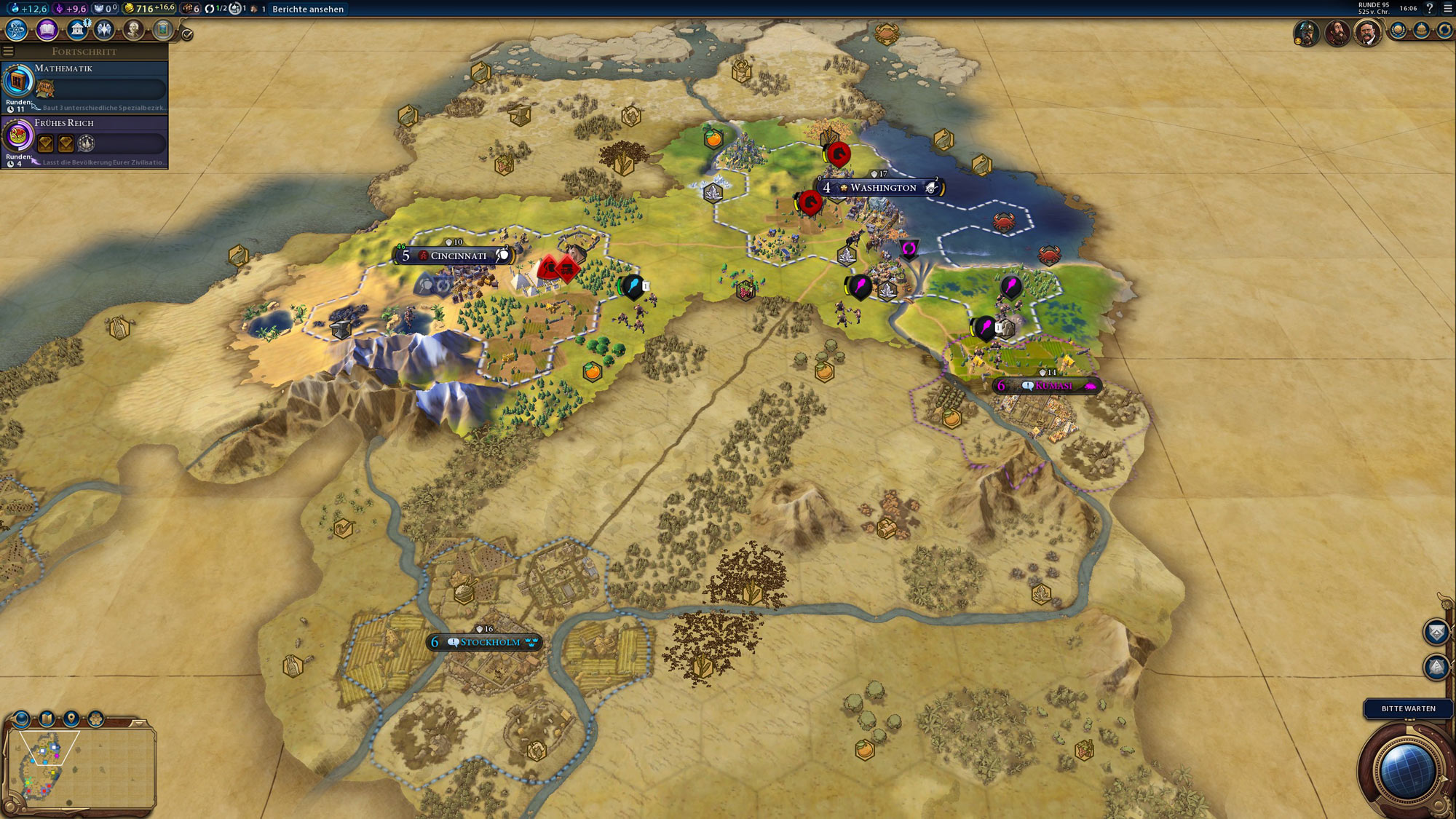 Civilization 6 Screenshot Weltkarte