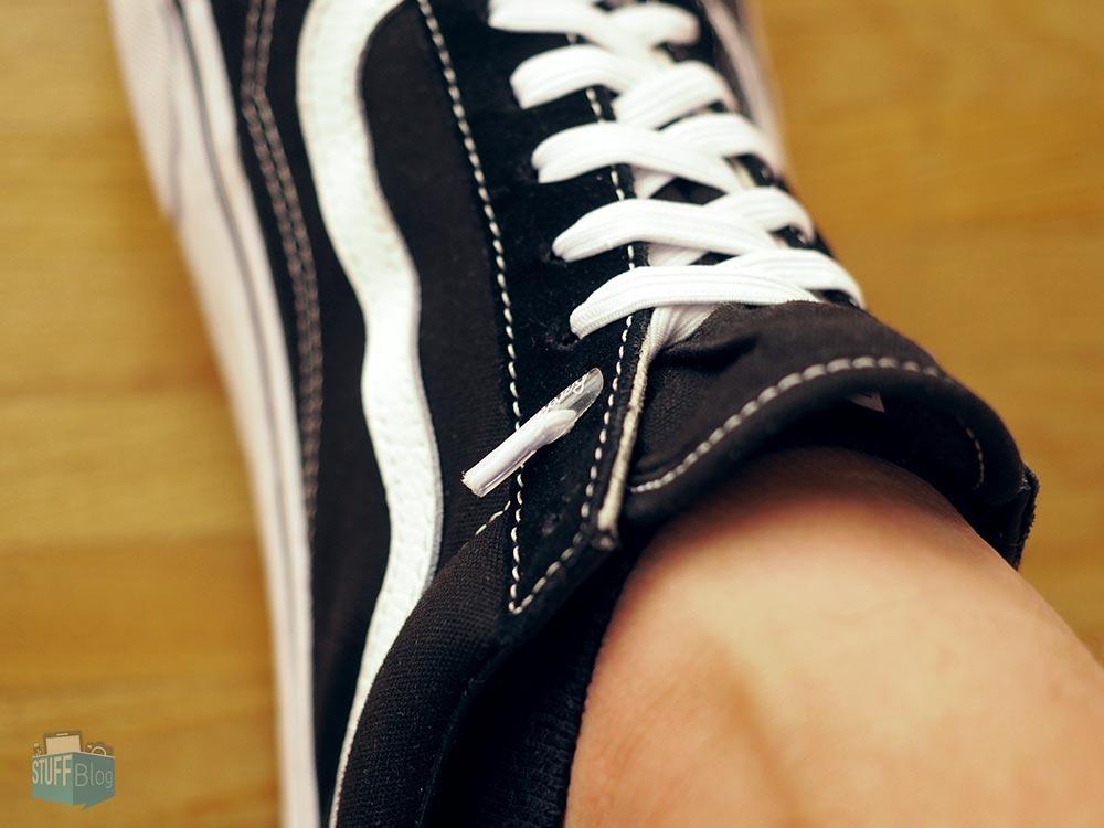 Leazy laces am Fuß