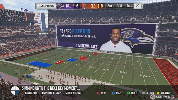 Madden 17 Play the Moments Modus