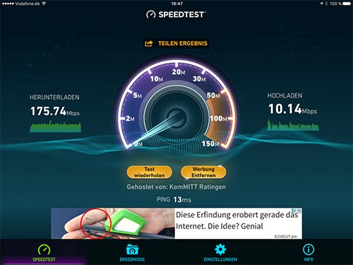 Speedtest Fritzbox 7580 Extreme