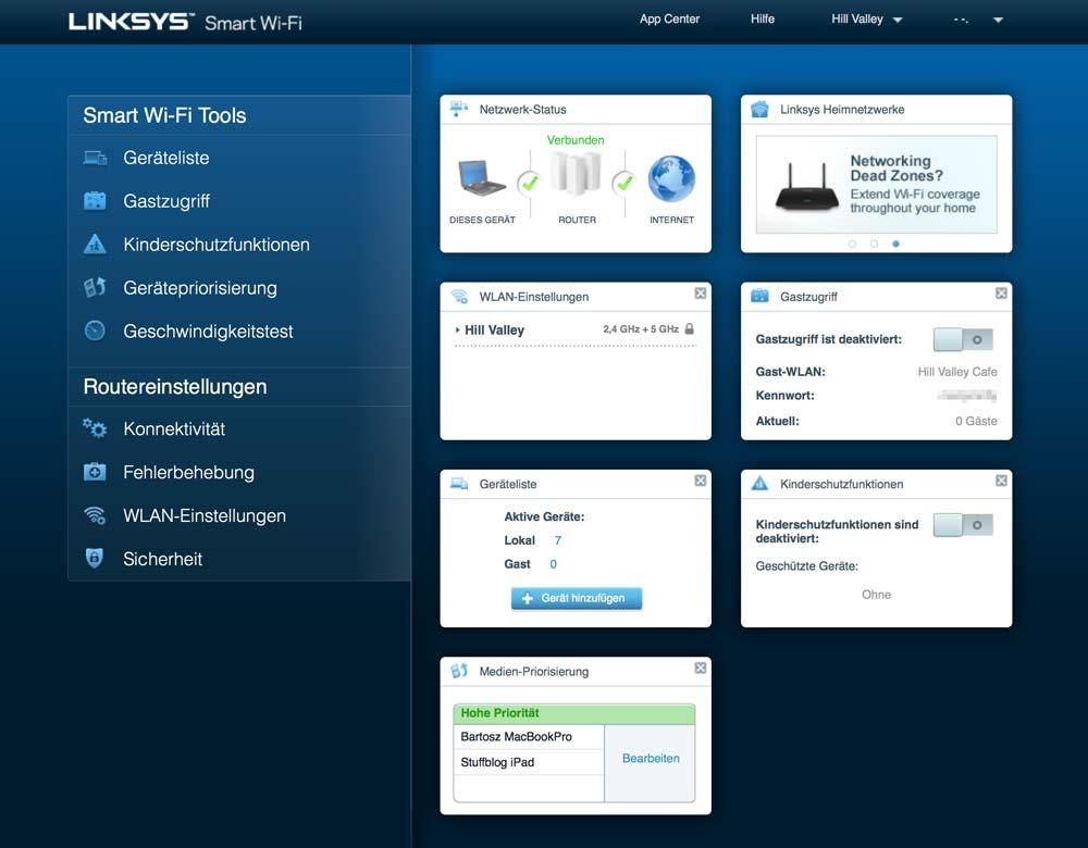 Linksys Velop Web-App